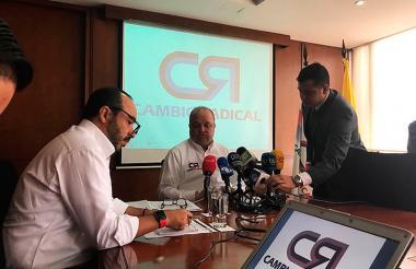 Jorge Enrique Vélez durante la rueda de prensa.