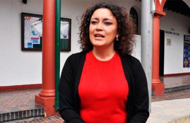 Angélica Lozano, representante por el Partido Verde.