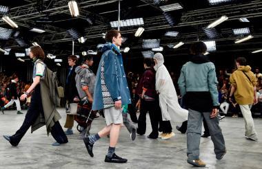 Desfile de Lanvin en la Semana de la Moda en París.