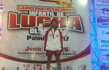 Sara Borás, oro en la categoría de los 48 kilogramos.
