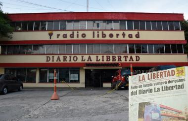 Fachada de las instalaciones del diario 'La Libertad'.