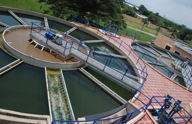 Planta de tratamiento de la empresa Triple A en Barranquilla.