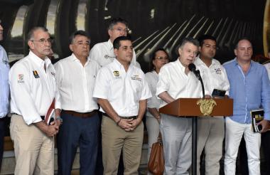 Juan Manuel Santos durante el evento.