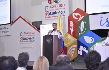 El presidente Santos instaló el congreso de Andesco.
