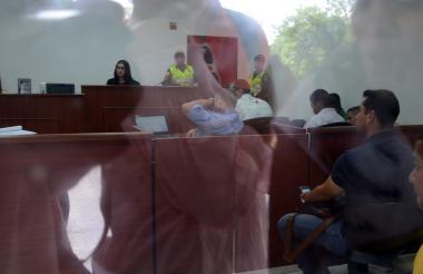 Aspecto de la audiencia de legalización de captura en el Centro de Servicios.