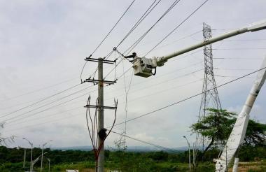 Operarios de Electricaribe trabajarán en las redes.