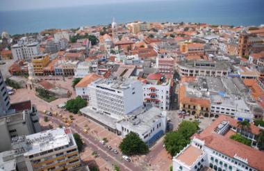 Vista de Centro de Cartagena, donde el Observatorio Laboral muestra su preocupación por las cifras de su mercado de ocupación.
