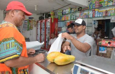 Tienda ubicada en un sector popular de Barranquilla.