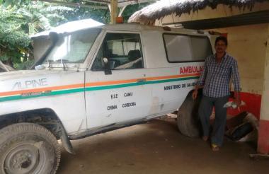 Esta es la ambulancia varada hace cuatro años en el corregimiento Carolina, en el municipio de Chimá.