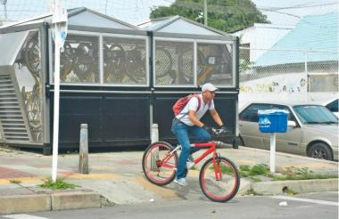Módulo de parqueo de las bicicletas.