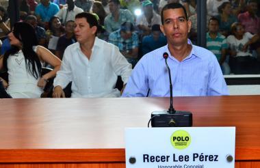Recer Lee Pérez durante una sesión del Concejo de Barranquilla.
