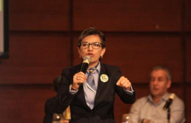 La senadora del Partido Verde Claudia López.