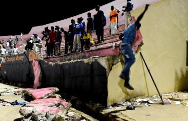 Una de las tribunas del estadio donde ocurrió la tragedia.