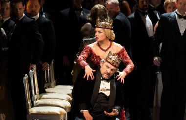 Una de las escenas de la ópera de Giuseppe Verdi.