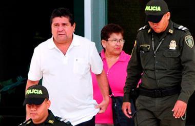 Abelardo Andrade Meriño, a la salida de una audiencia.