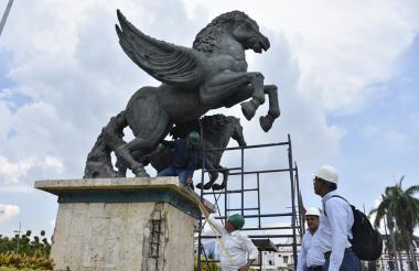 Monumento de Los Pegasos.