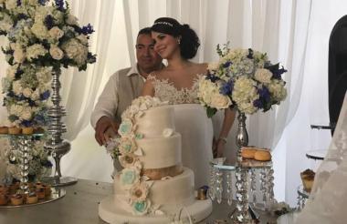 Jorge Luis Alfonso López y su pareja.