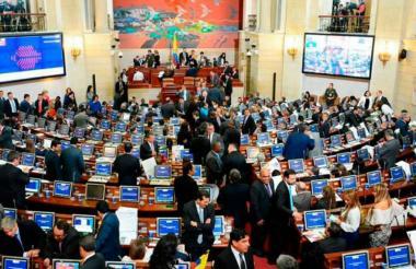 Aspecto de una sesión plenaria en el Senado de la República.