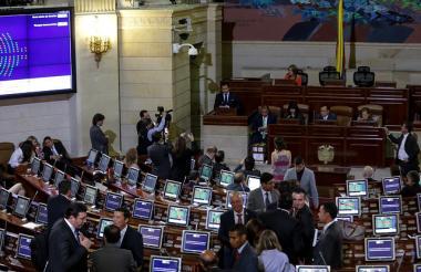 Aspecto de la instalación del último período legislativo del Congreso.