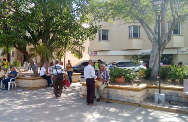 """Plaza José Prudencio Padilla, sitio en el que estuvo el """"ángel del dinero""""."""