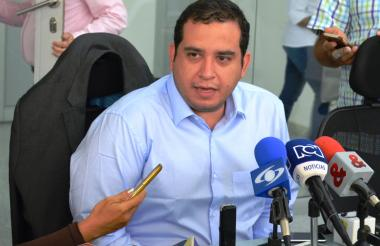 El alcalde Jacobo Quessep, durante las declaraciones de ayer ante la prensa.