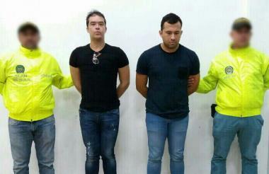 Los capturados por la Policía: Danilo Rafael Daza Maestre y Andrés Adolfo Villamizar Gómez