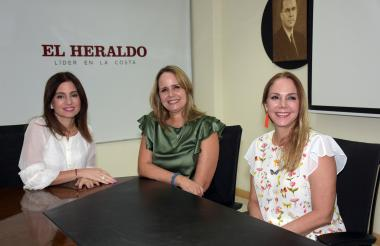 La primera Damas del Distrito Katia Nule, María C. Díaz y  la primera Dama del Departamento Liliana Borrero.