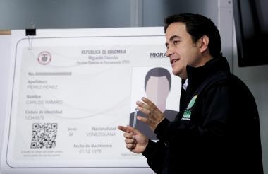El director general de Migración Colombia, Christian Krüger Sarmiento realizó anuncios frente a la migración venezolana.