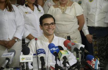 Sergio Londoño Zurek, alcalde encargado de la ciudad de Cartagena.