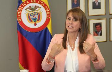 La ministra de Trabajo Griselda Restrepo.