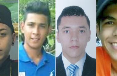 Los cuatro jóvenes desaparecidos en el barrio San Felipe.