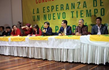 Sectores de la centro-izquierda reunidos en el IV Congreso del partido político de la UP