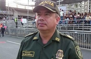 William Sánchez, subcomandante de la Policía de Bogotá.