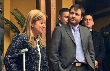 Noguera y Pumarejo momentos previos a la reunión.