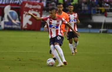 Víctor Cantillo durante el partido de este sábado.