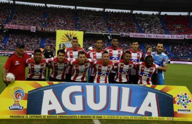 Onceno titular de Junior que se impuso 2-0 al Envigado, el sábado anterior en el estadio Metropolitano Roberto Meléndez.
