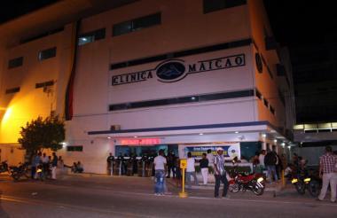 En la clínica Maicao se encuentra hospitalizado Jasson Martínez, uno de los capturados por parte de la Policía.