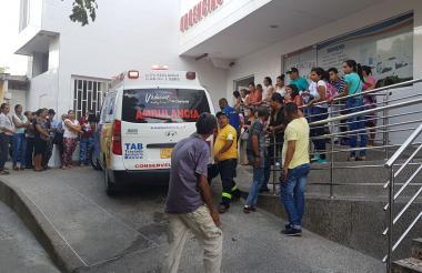 Clínica Vidacoop, donde fue llevado al herido para recibir atención médica.
