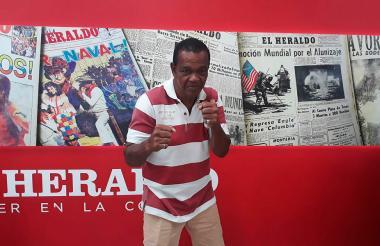 Emiliano Villa durante su visita a EL HERALDO.