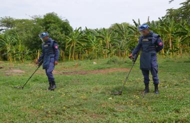 Soldados de la brigada de Ingenieros de Desminado Humanitario trabajaron durante 3 años para retirar los explosivos en  el Magdalena.