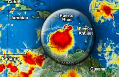 Mapa donde se detalla la ubicación de 'Harvey'.
