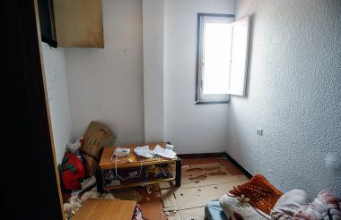 Esta es la habitación de Abdelbaki Es Satty, que fue suministrada por un compañero de piso.