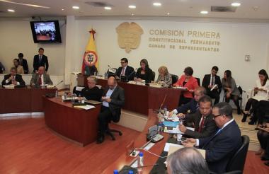 Comisión primera de la Cámara baja.