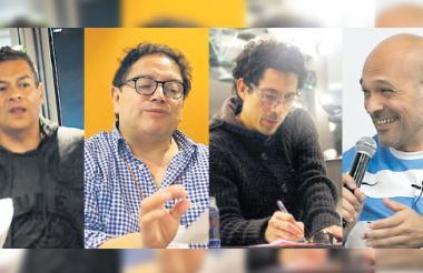 Pepe Toño Macías, de México. Fernando Solís, de Chile. Álex Pinilla, de Colombia.Omar González, de Argentina.