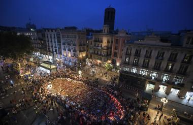 Una vista general del Boulevard Rambla en Barcelona este sábado.