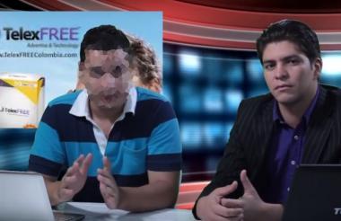 Deison Valencia, en un video promocional de TelexFree en Colombia.
