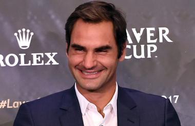 El tenista suizo Roger Federer (36 años).
