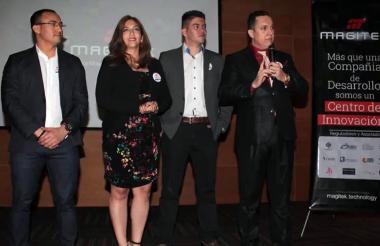 Fredy Enrique Morelo Morelo, María Varinia Jouvin Martillo, Deison Andrés Valencia Grajales y Anderson Marques, de Magitek Internacional SAS.