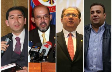 Luis Gustavo Moreno, Francisco Javier Ricaute, José Leonidas Bustos y Musa Besaile.