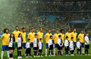 Nómina inicialista de Brasil para enfrentar a Ecuador.